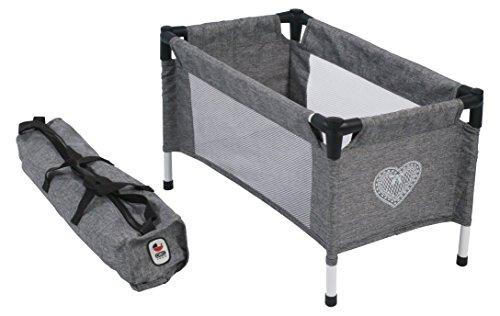 Bayer Chic 200065276Cuna de Viaje para bebé de muñecas, Jeans Gris