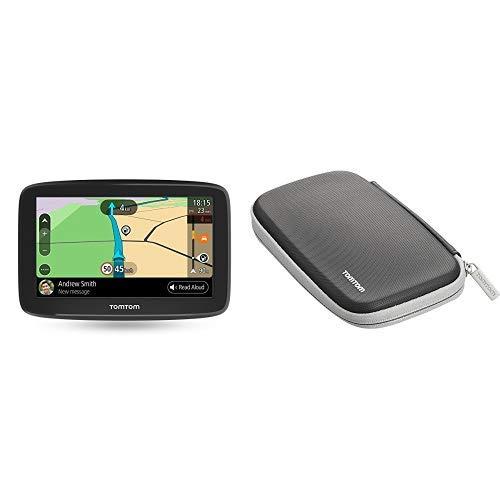 TomTom GO Basic Pkw-Navi (6 Zoll, mit Updates über Wi-Fi, Lebenslang Traffic via Smartphone und EU-Karten, Smartphone-Benachrichtigungen, resistivem Display) & Klassische schützende Tragetasche