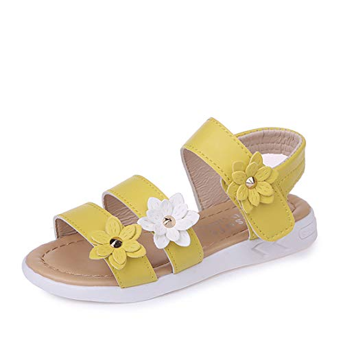 QZBAOSHU Sandalias Vestir Niña Tres Flores Zapatos