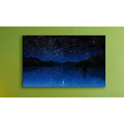 XYXY Camera notte decorativi pittura vive stelle LED luce decorazione pittura moderna semplice parete pittura . b .