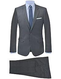 vidaXL Traje de chaqueta de hombre 2 piezas antracita azul talla 46-56 85d0b3c0032b