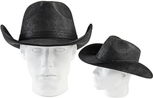 Seiler24 Premium Ranger Western Sheriff Cowboy Hut in Klassischen Schwarz