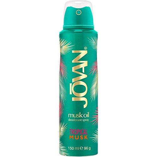 Jovan Damendüfte Tropical Musk Deodorant Body Spray 150 ml (Musk Deodorant Body Spray)