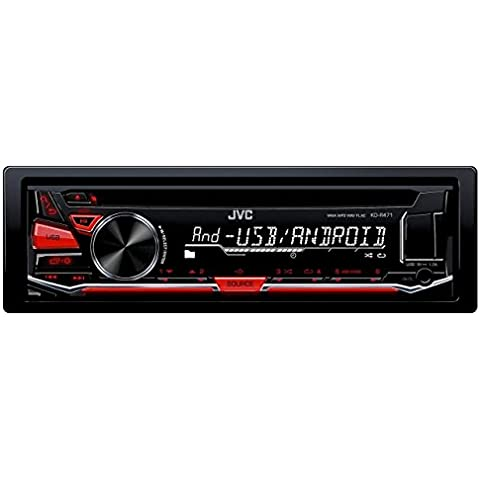 JVC KD-R471E - Radio para coche (87.5 - 108 MHz, 250 W , LCD), color negro