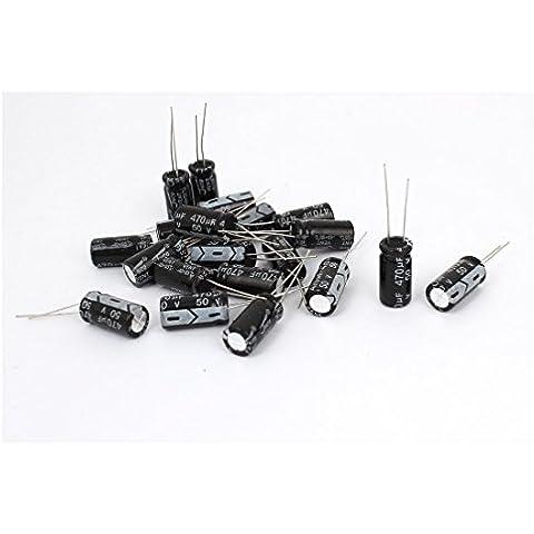 20 Unidades 470uF 704 Placa base Aluminio Condensadores Electrolíticos 10x20 mm