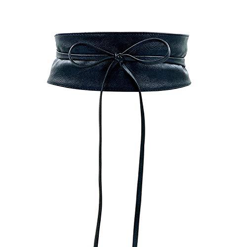 CALIYO Taillengürtel Damen breit Taillengürtel Bindegürtel Damen in modischen Farben onesize (Schwarz)