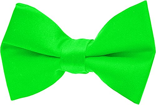 Fliege Schleife 12,5 x 6,5cm 30 Farben Grösse Verstellbar (Neon Grün)