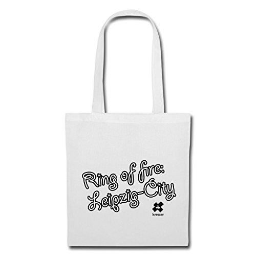Spreadshirt Lappone City Bag In Tessuto Bianco