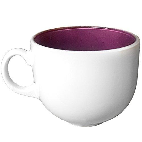 Tasse Schüssel Frühstück 50cl in Glas weiß mit Griff für Bar Cappuccino Latte Luminarc Jumbo 50Flashy Breakfast (Weiße Schüssel Milch)