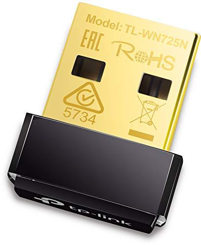 TP-Link TL-WN725N Clé WiFi N 150 Mbps, nano adaptateur USB wifi, dongle wifi, Garantie à 3 ans, compatible avec Windows 10/8.1/8/7/XP/Vista, Mac OS X 10.9-10.13, Linux.
