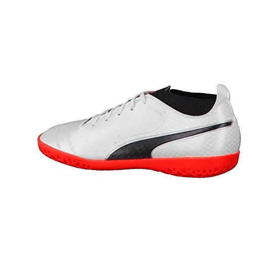 Puma Herren One 17.4 It Fußballschuhe Weiß (White-Black-Fiery Coral)
