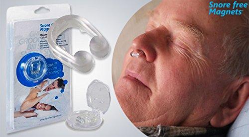 Magnetischer Schnarch Stopper Hilfe bei Schnarchen Magnetfeldtherapie Snore free