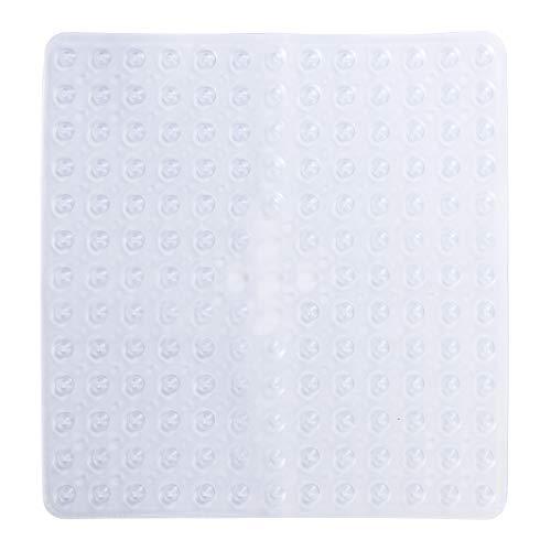 Yardwe Bad Rutschfeste Matte Square Bad Dusche Sicherheitsmatten PVC antibakterielle Mehltau resistent Rutschfeste Matte (klar) (Mat Dusche Square)