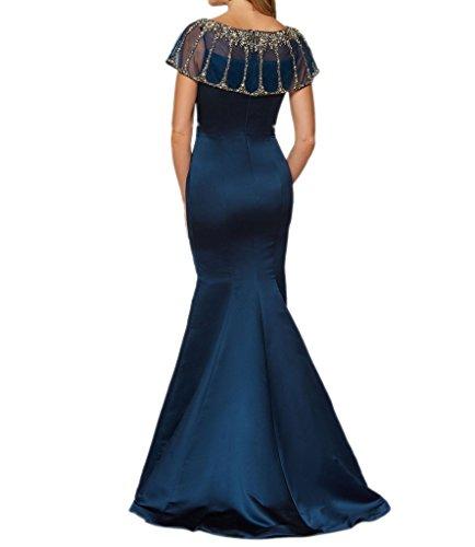 Royaldress Navy Blau Satin Lang Abendkleider Ballkleider Partykleider Schmaler SchnittRock Cocktailkleider Rot