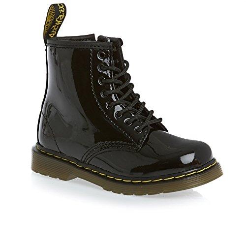 Dr. Martens Mädchen BROOKLEE Patent BLACK Bootschuhe, Schwarz), 27EU - Infant Black Patent Schuhe