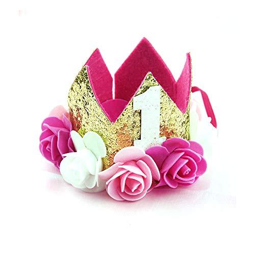 Gorro cumpleaños Bebé Flor Corona Diadema cumpleaños