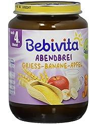 Bebivita Abendbreie, Grieß-Banane-Apfel, 1er Pack (1 x 190 g)