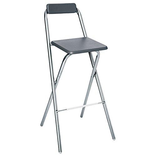AC-Déco Chaise de Bar Pliable - Lot de 2 - Gris - Louna