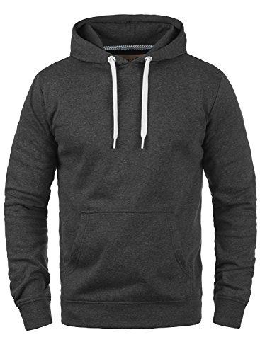 SOLID Olli Herren Kapuzenpullover Hoodie Sweatshirt aus hochwertiger Baumwollmischung Meliert Dark Grey Melange (8288)