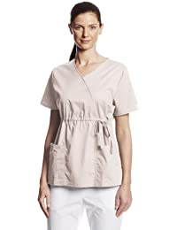 Cherokee (modelos de ropa de trabajo para mujer bata Core Stretch gathered-front Faux-Wrap Top