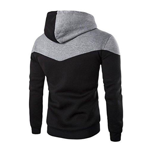 Bluestercool Felpe Uomo Cappuccio Hoodie Sweatshirt Cotone Inverno Elegante Nero