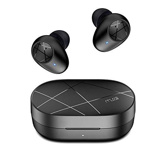 Ecouteurs Bluetooth sans Fil, Muzili Écouteur Sport Hi-FI Son Stéréo Anti-Bruit DSP Activer Siri Touch Control Oreillette Bluetooth Intégré Micro pour iOS Android Huawei 30