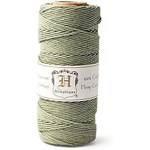 Hemptique - Rotolo di corda di canapa, 50 g, colore: Oliva