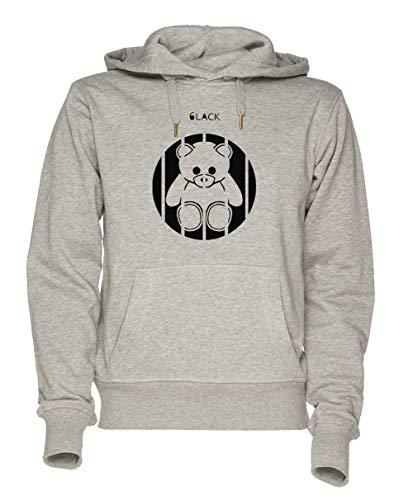 Jergley 6lack Unisex Grau Sweatshirt Kapuzenpullover Herren Damen Größe XL | Unisex Sweatshirt Hoodie for Men and Women Size XL