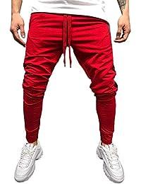 Topgrowth Pantaloni Sportivi Uomo Running Pantaloni Jogging Casual  Patchwork Pantaloni Con Tasconi Traspirante Sweatpant 98e2549b5b5f
