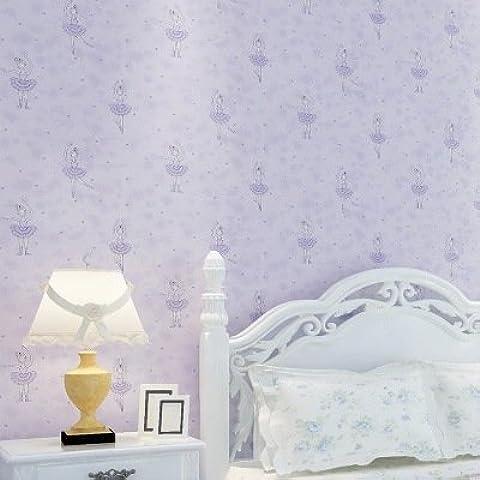 YC Bailarina de verde sueño púrpura princesa de dibujos animados fondos de pantalla de fondos tienda dormitorio completo no tejido infantil Sala , en27003 elegant purple