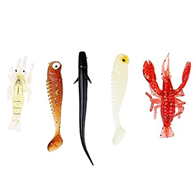 Broadroot Soft Silicone Fishing Lure Bait Artificial Fish Simulation by Broadroot
