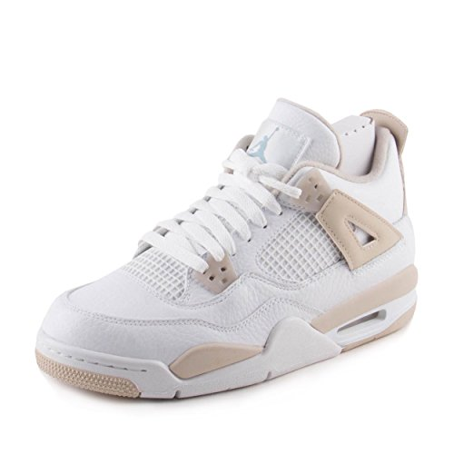 Jordan 4 Retro Big Kids, Weiß - White/Boarder Blue/Light Sand - Größe: 38 EU Kinder