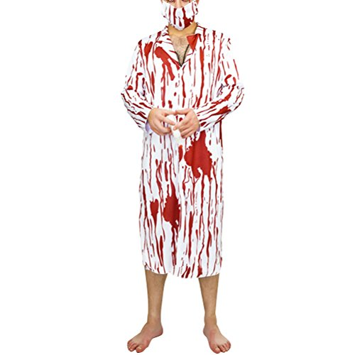 Fenical Halloween Cosplay Kostüm Male Krankenschwester Kostüm Bloody Männlich Chirurg Kleidung Party Requisiten - Freie Größe