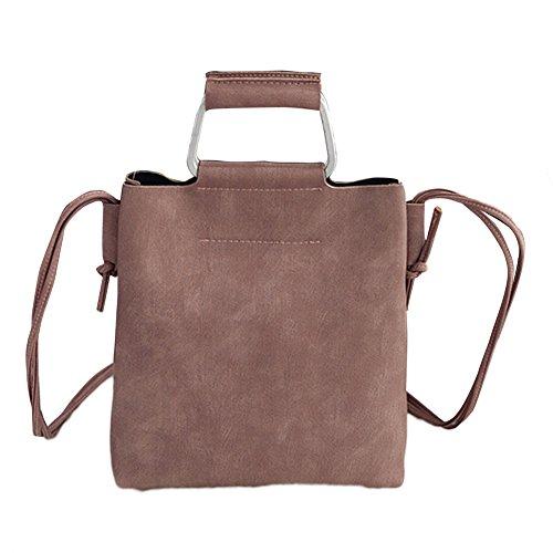 Faux Leder Medium Tote Tasche (Homeofying Solid Color Faux Leder Tote Handtasche Damen Schulter Umhängetasche (Pink))