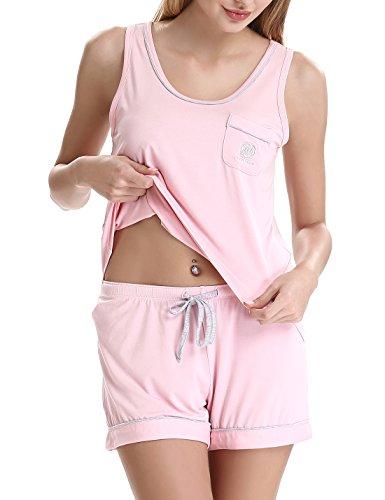 Sexy Dessous Set Damen Kurz Sets elegant Chemises unterwäsche by NORA TWIPS(rosa,XS) (Chemise Elegante)
