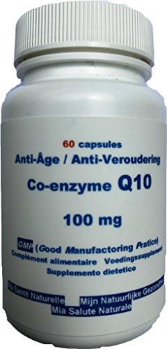 Q 10Co-enzyme–Antiedad–Energie–Inmunidad–100mg–60Cápsulas