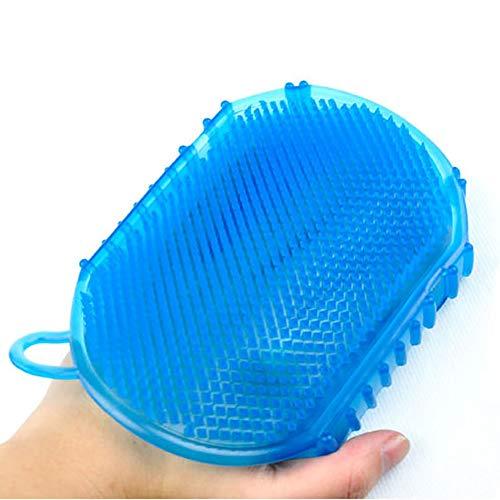 Hilai Silikon-Massage-Handschuh glatt Abnehmen Anti-Cellulite-Massagebürste Bademassagehandschuh Massage Entspannung 1pc