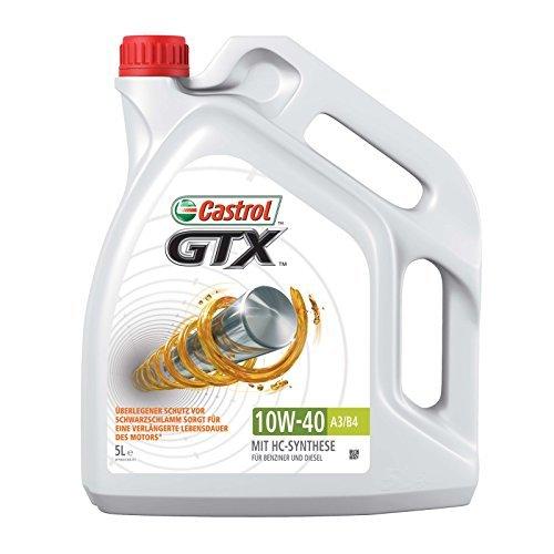 Castrol GTX 10W-40 A3/B424 Motorenöl, 1-er Pack (1 x 5L)