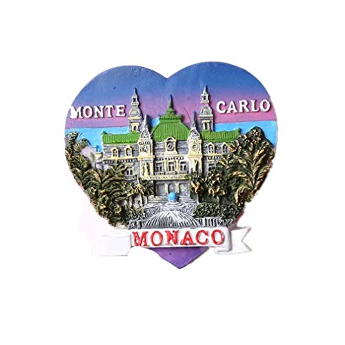 Bella Magnet Frigo Aimant Frigo Aimant Réfrigérateur Décor Voyage Vacances Souvenir de Europe Monte-Carlo Monaco Fridge Magnet Sticker