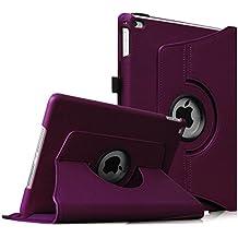 Fintie iPad Air 2 Funda - Giratoria 360 grados Smart Case Funda Carcasa con Función y Auto-Sueño / Estela para Apple iPad Air 2 (iPad 6th Generación 2014 Versión) 9.7 Inch iOS Tableta, Purpura