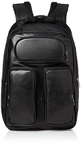 ARMANI EXCHANGE Pockets Backpack - Zaini Uomo, Nero (Black), 28x19x34 cm (B x H T)