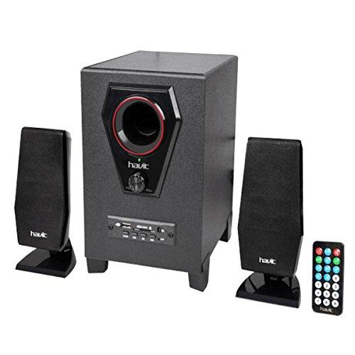 Havit hv-sf7100u 15W schwarz Lautsprecher-Lautsprecher (Universal, 2.0Kanal, Boden, Oberseite Tisch-/Bücherregal, Satellite, integriert, 15W) Universal Satellite Lautsprecher