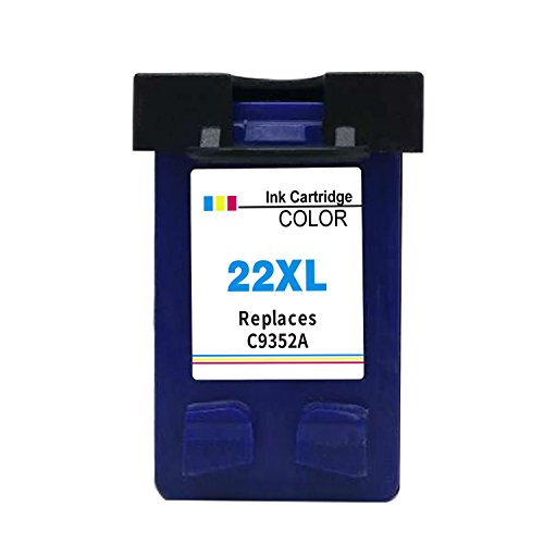 Ksera Reconstruido HP 22 XL HP 22 Color Cartucho de Tinta de Alto Rendimiento 1 Paquete (C9352A) para HP Deskjet 3940 D1530 F2280 D2360 D2460 D1460 F2180 F380 F4180 HP Officejet 4315 4315v 4315xi