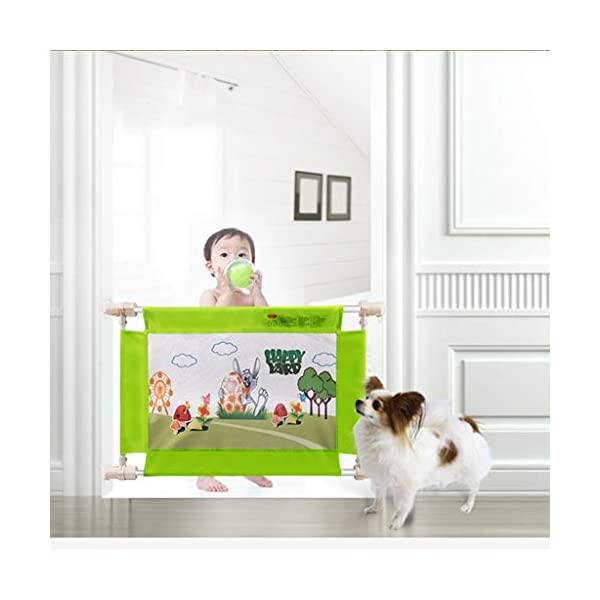 Playpens Baby Child Door Guardrail Baby Fence Railing Stairs Staircase Cat Dog Pet Isolation Bar Retractable 60-90 Playpens ★ high quality non-toxic materials:Steel Pipe,net ★ Vertical lift structure: no space is occupied, and it is more convenient to enter and exit. Push the fence down at the push of a button ★ height adjustment: can be adjusted according to the thickness of the mattress, so that the bed is close to the mattress. Avoid gaps between the mattress and the guardrail to prevent your child from falling 4