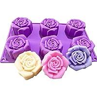 JasCherry Forma de Rosa Moldes de Silicone - Premium Antiadherente Moldes para Tartas, Repostería,