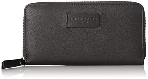 Liebeskind Berlin Damen Essential Sally Wallet Large Geldbörse, Schwarz (Black), 2x9x19 cm