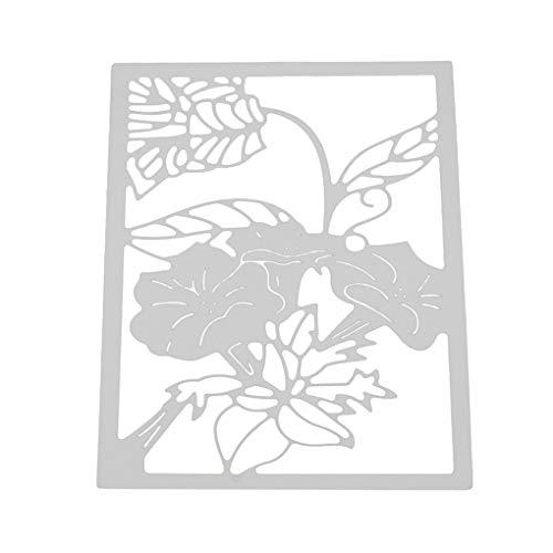 ELENXS Forme de Fleur de Matrices de découpe Moule en Acier au Carbone Pochoir gaufrage Métal Scrapbook Artisanat Outil Bricolage
