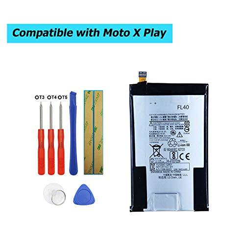 Upplus FL40 - Batteria di Ricambio per Motorola Droid Maxx 2,Moto X 3a, Moto X Play,XT1560,XT1561,XT1562,XT1563,XT1565 con Kit di Attrezz