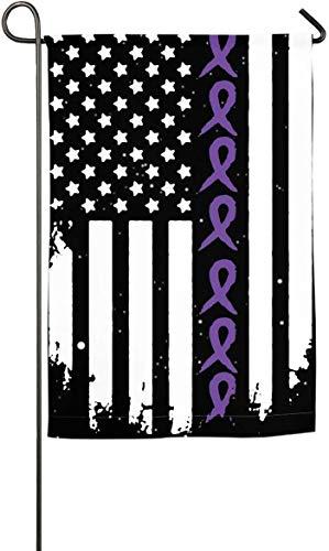 N/A Bauchspeicheldrüsenkrebs Amerikanische Flagge Garten Flagge Gedruckt Feier Flagge Frühling Sommer Demonstration Flagge -