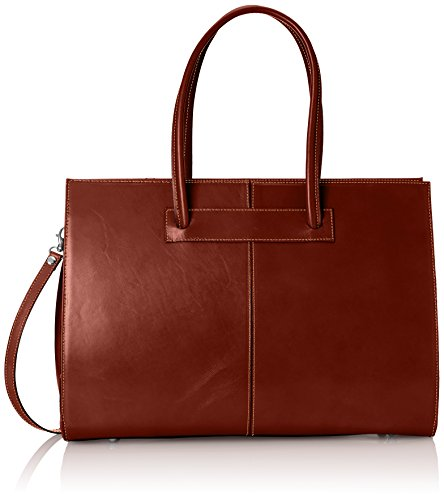 Made Vera documenti 100 in a Pelle mano Marrone Italy Borsa cartella donna porta qCzYzU